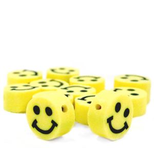 Polymer Perlen Smiley Yellow