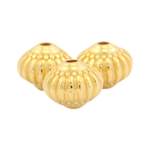 Metall Perlen DQ deco 8x7mm Gold (nickelfrei)