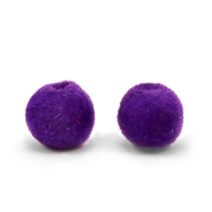 Velvet Pompom Perlen 6mm Royal purple